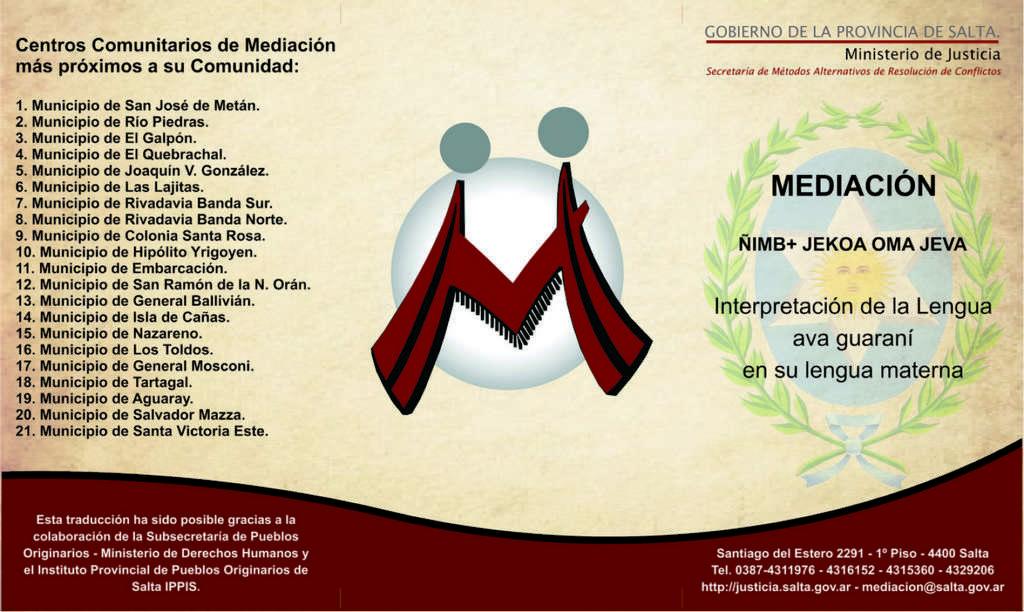 Pueblos originarios mediacion