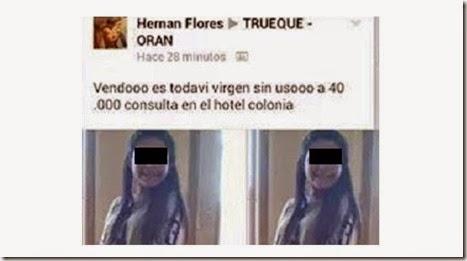 Detuvieron a un joven, presunto pedófilo, acusado de ofrecer en Facebook a una niña virgen a cambio de 40 mil pesos