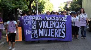 caminata contra las violencias