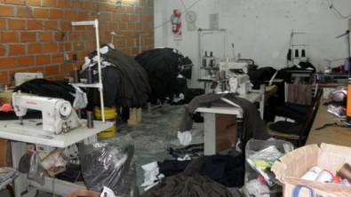 Desbaratan un taller clandestino escondido detrás de una pared