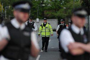 policia británica