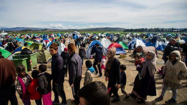 condenado campo refugiados