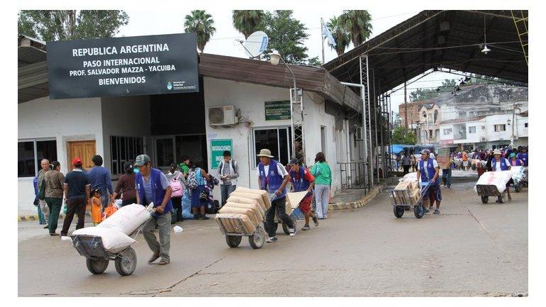 Paso Internacional Salvador Mazza Salta Arg. a Yacuiba, Bolivia Imagen: elliberal.com