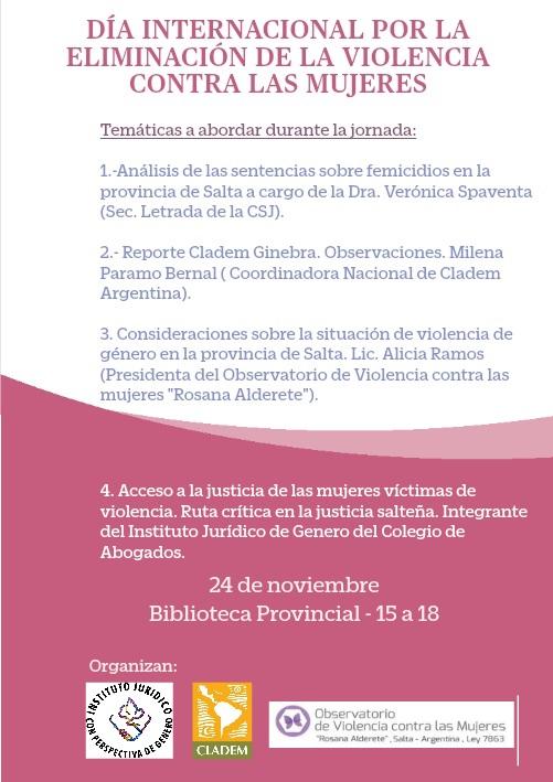 Imagen : Instituto de Género del colegio de Abogadxs Salta
