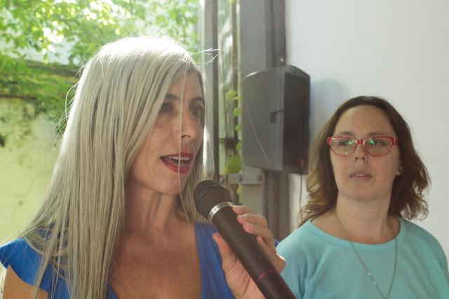 Imagen : La Alameda . La periodista Silvina Brandimarte junto a Tamara Rosemberg