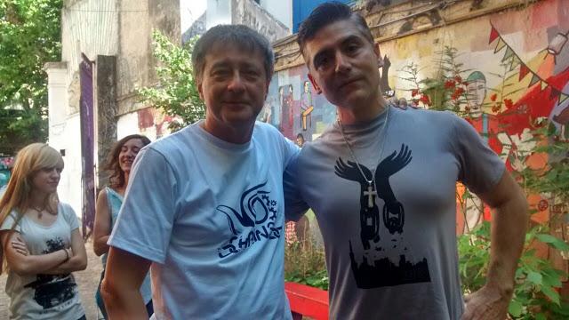 Imagen : La Alameda. ELos periodistas Rolando Graña y Hugo Macchiavelli